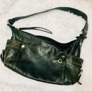 {FOSSIL} Black Leather Hobo Bag